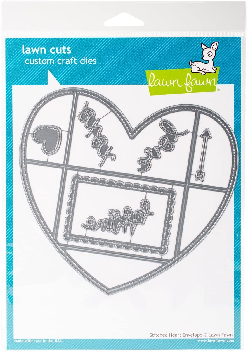 Lawn Fawn Lawn Cuts - Stitched Heart Envelope Die