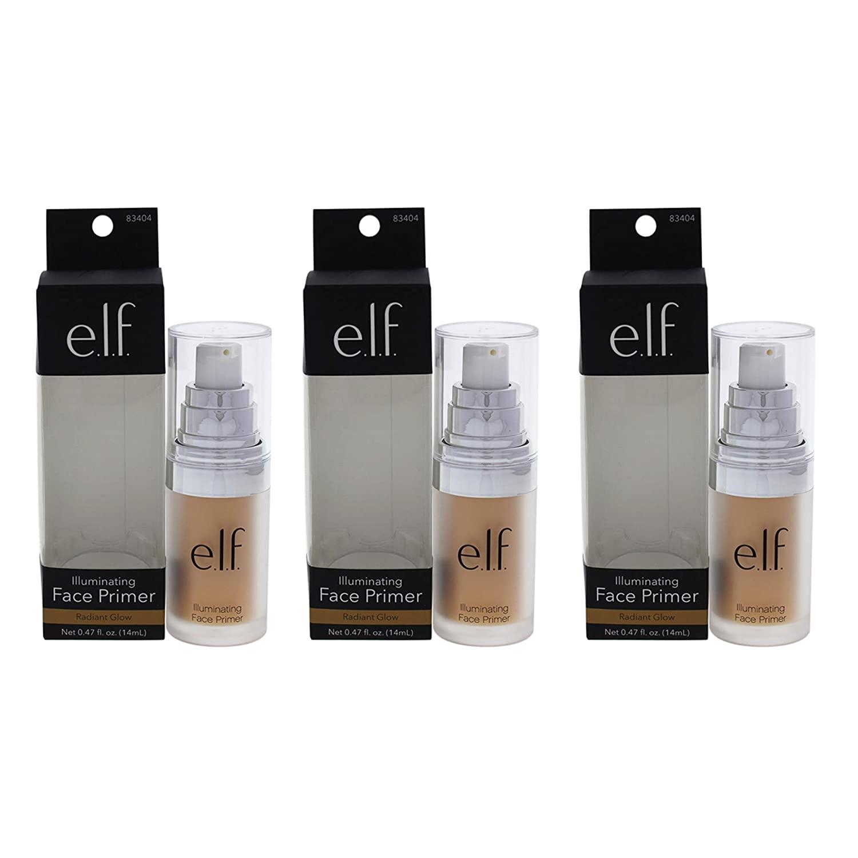 Illuminating Face Primer - Radiant Glow by e.l.f. for Women - 0.47 oz Primer - (Pack of 3)