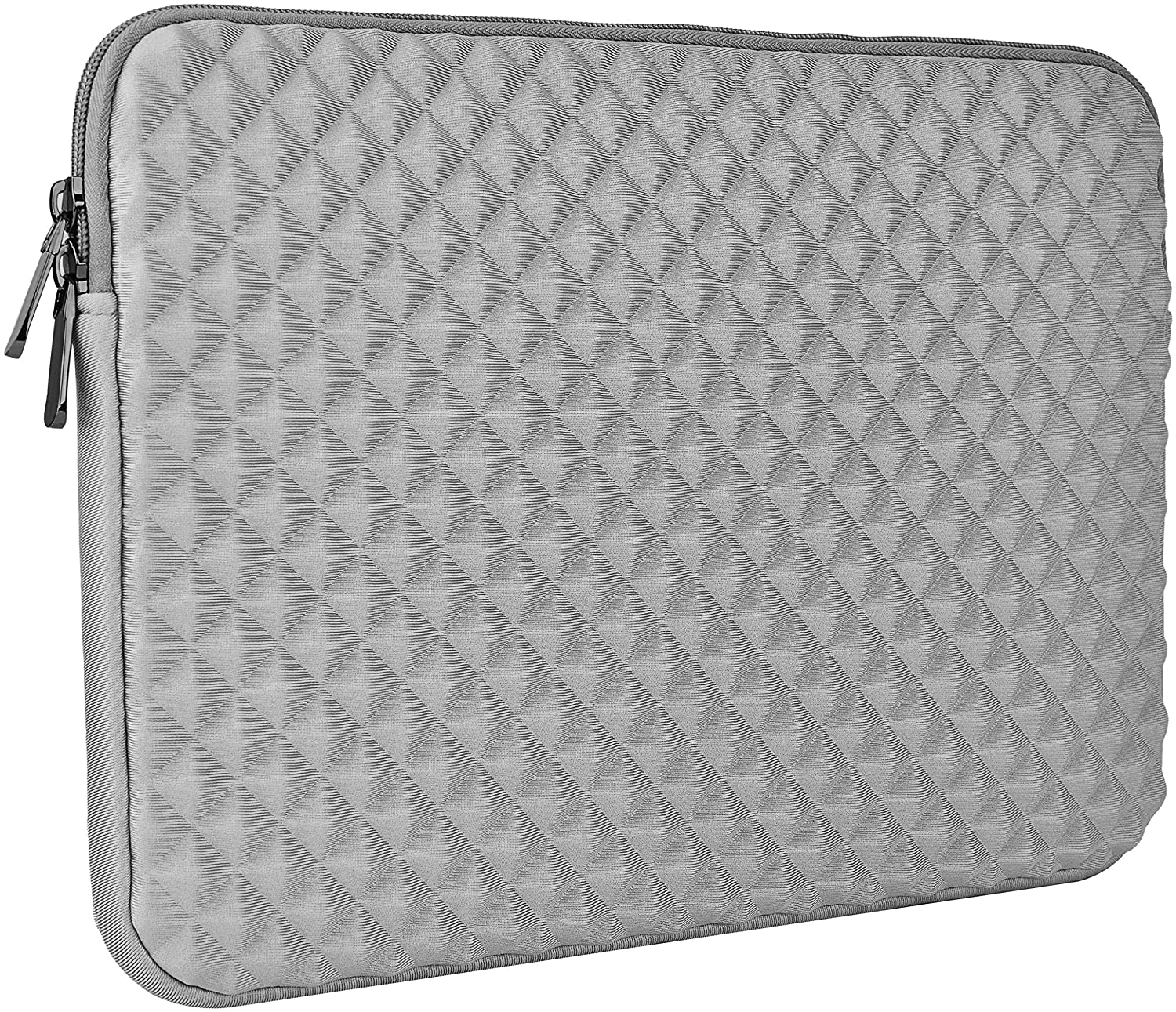 LuvCase Laptop Protective Diamond Foam Neoprene Sleeve Waterproof Case Bag Compatible MacBook Pro 15-16 Inch, A2141/A1707/A1990/A1398/A1286, Chromebook, Acer, Thinkpad HP Notebook (Grey)