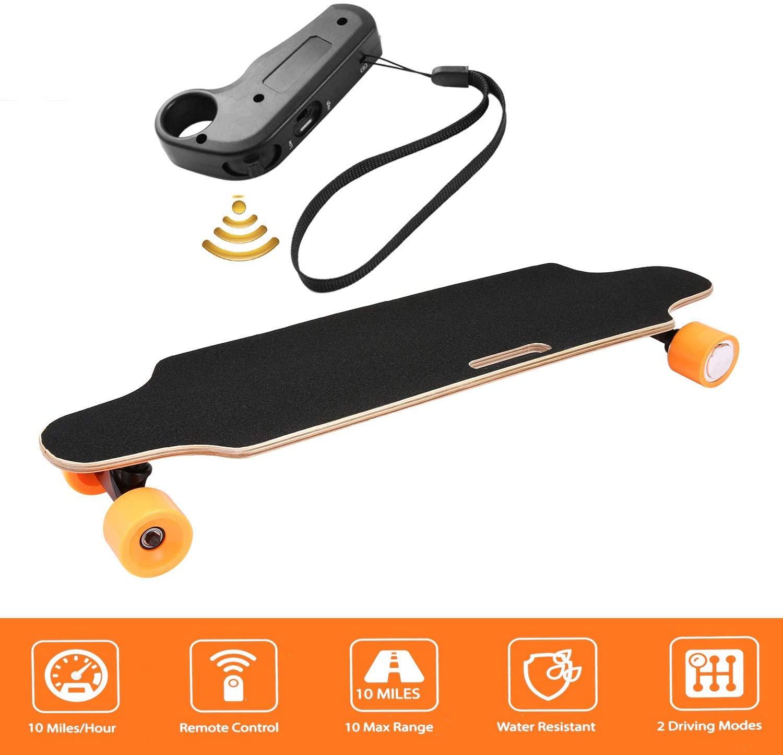 Aceshin Electric Skateboard Longboard with Wireless Handheld Remote Control 350W Single-Motor Power 8 Layers Maple Longboard Skateboard Cruiser for Kids Teens Adults