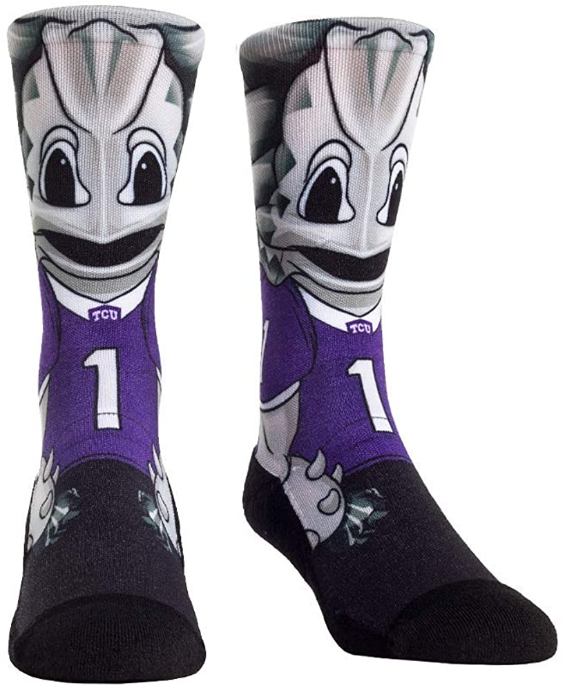 NCAA Super Premium College Fan Socks (L/XL, TCU Horned Frogs - Mascot)