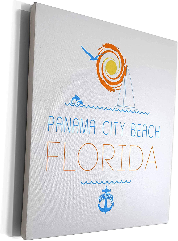 3dRose Alexis Design - American Beaches - Panama City Beach, Florida decorative text, images. Summer vacations - Museum Grade Canvas Wrap (cw_311543_1)
