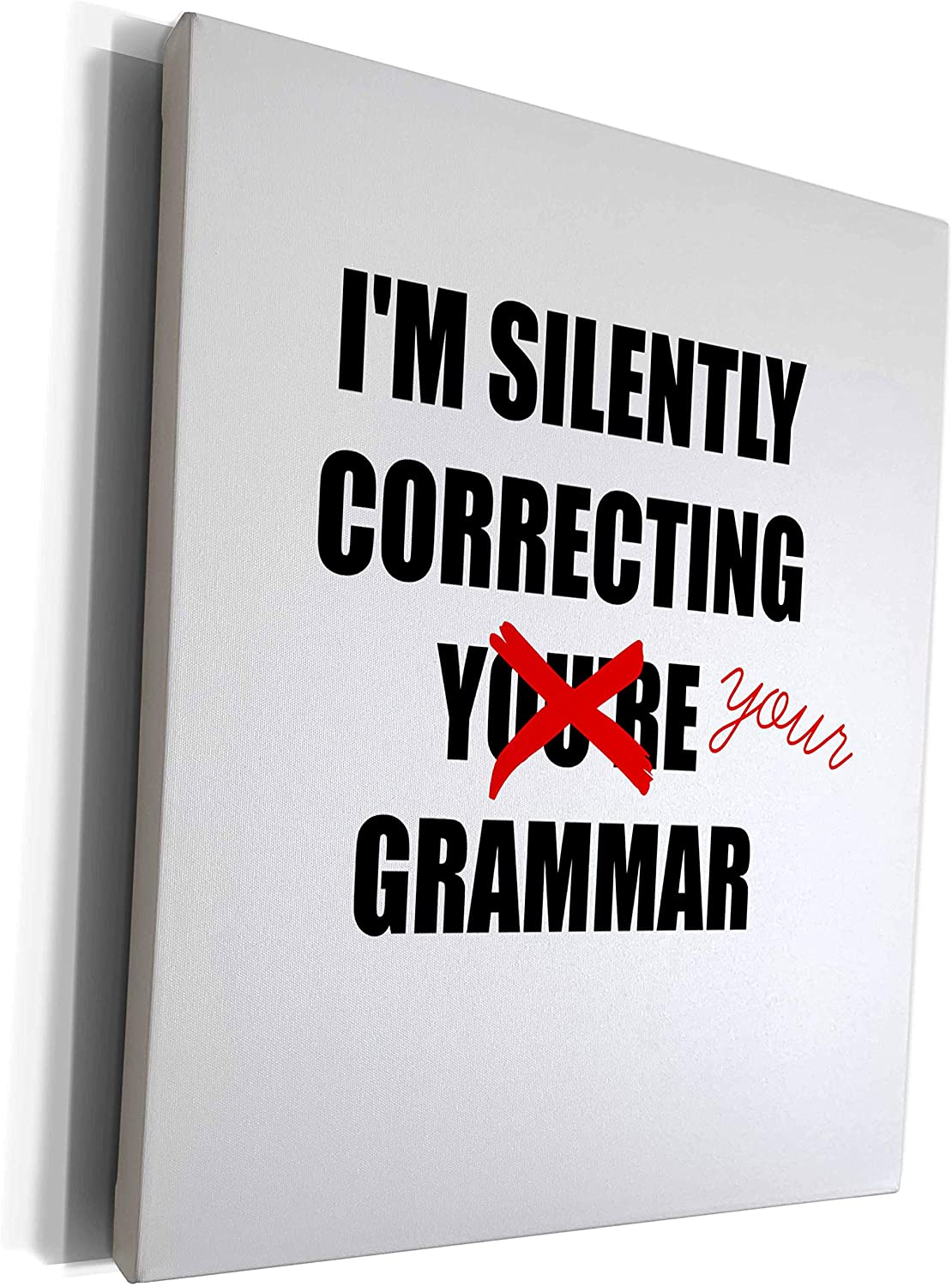 3dRose BrooklynMeme Sayings - Silently correcting your grammar - Museum Grade Canvas Wrap (cw_212173_1)