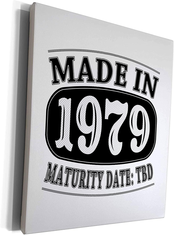 3dRose Janna Salak Designs Humor - Made in 1979 - Maturity Date TDB - Museum Grade Canvas Wrap (cw_212530_1)
