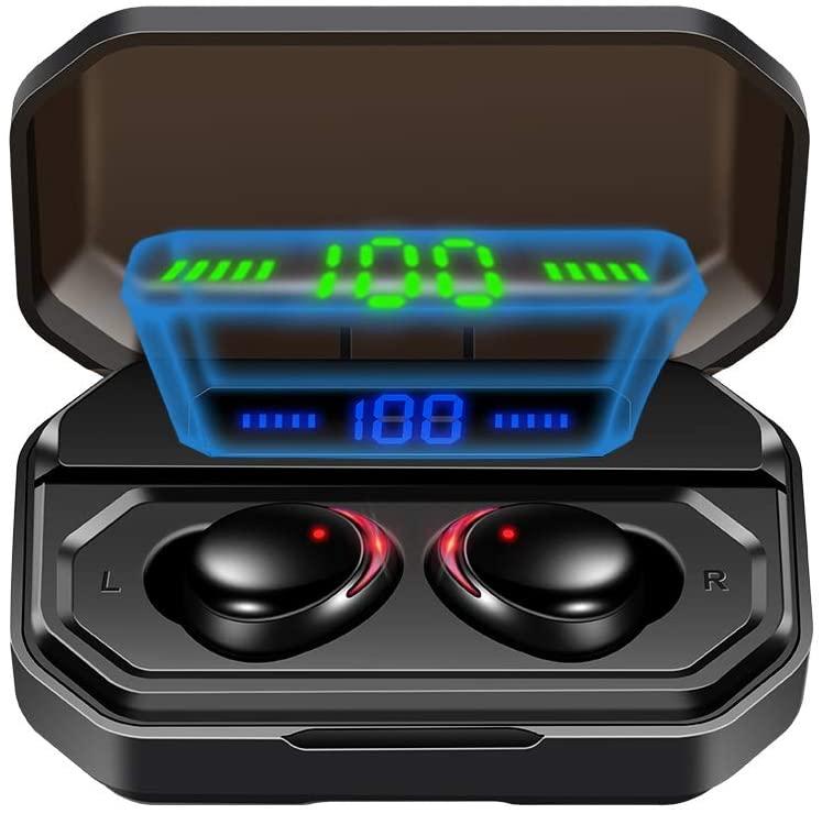 Nomber Earphone Bluetooth Headphone Wireless Microphone Sport Gaming in Ear Headset Stereo Waterproof Noise Canceling