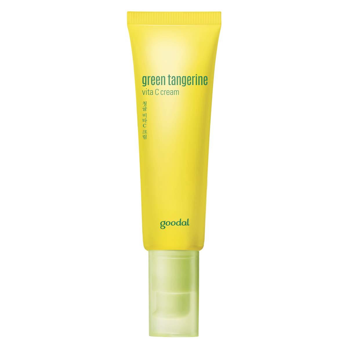 Goodal Green Tangerine Vitamin C Cream for Oily or Combination Skin | Brightening, Dark Spot Treatment, Anti-Aging Skin Repair, Acne Scars, Fine Lines, Hyperpigmentation, and Dark Circles (1.69 fl oz)