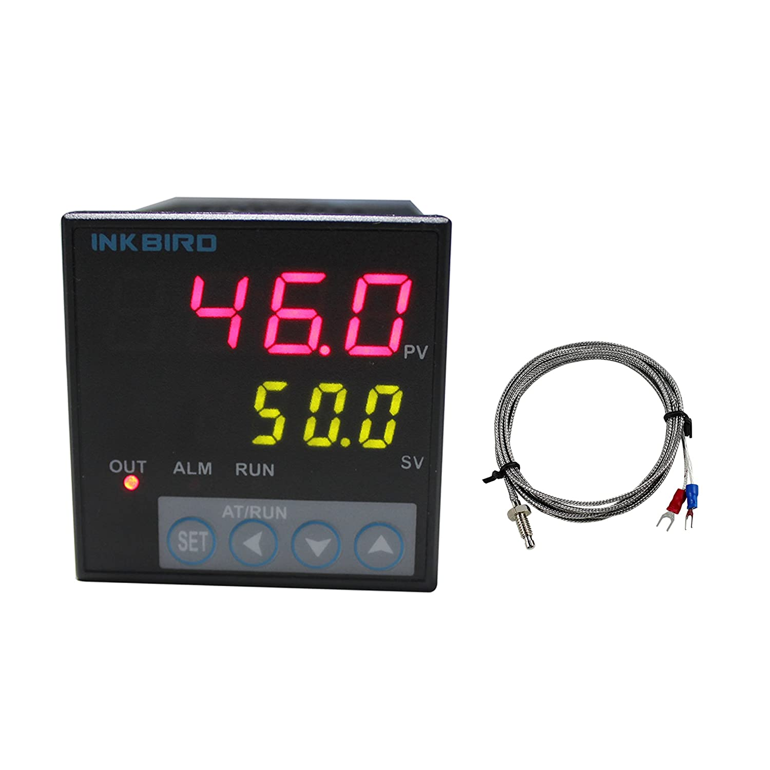 Inkbird ITC-106VH PID Temperature Thermostat Controllers F and C AC 100 to 240V with K Sensor for Sous Vide Home Brewing Oven Incubator