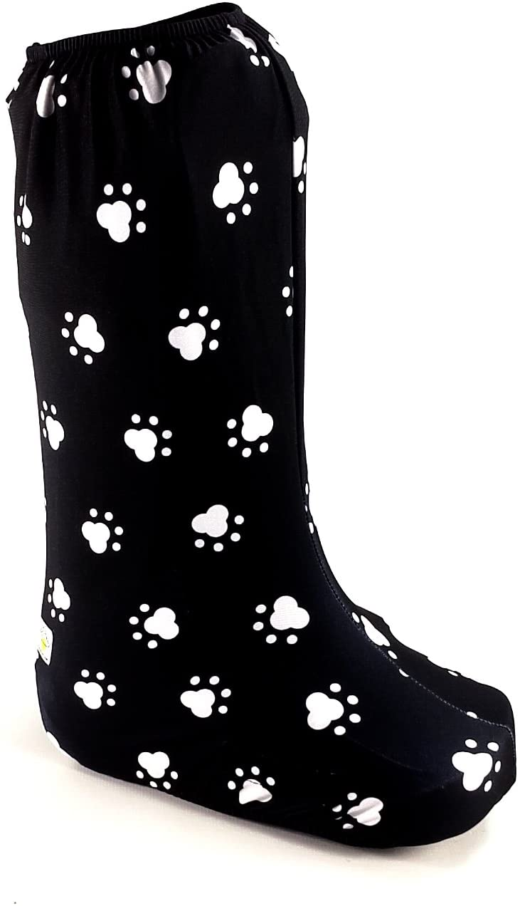 My Recovers Walking Boot Cover for Fracture Boot, Fashion Cover in Dog Paw, Tall Boot, Made in USA, Orthopedic Products Accessories (Large)