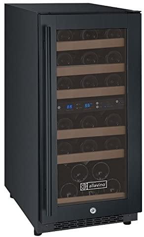 Allavino VSWR30-2BR20 Wine Refrigerator, 30 Bottle, Black