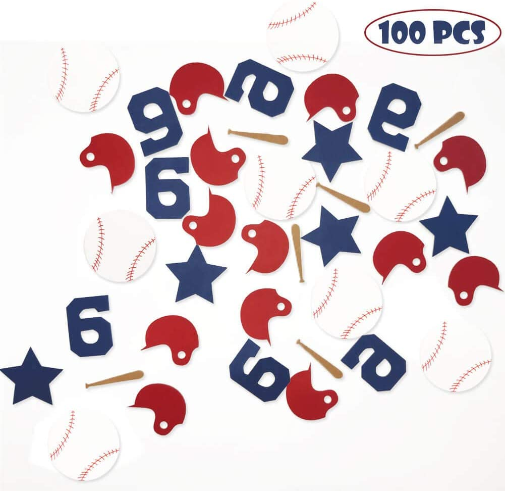 Baseball Confetti Sport Table Confetti Concessions Baseball Theme Gender Reveal Baby Shower Birthday Party Supplies Decorations Table Scatter Decor Photo Booth Props
