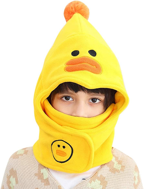 Kids Boys Girls Winter Balaclava Hat Animal Hood Cap Fleece Warm Ski Hat Windproof Face Neck Warmer