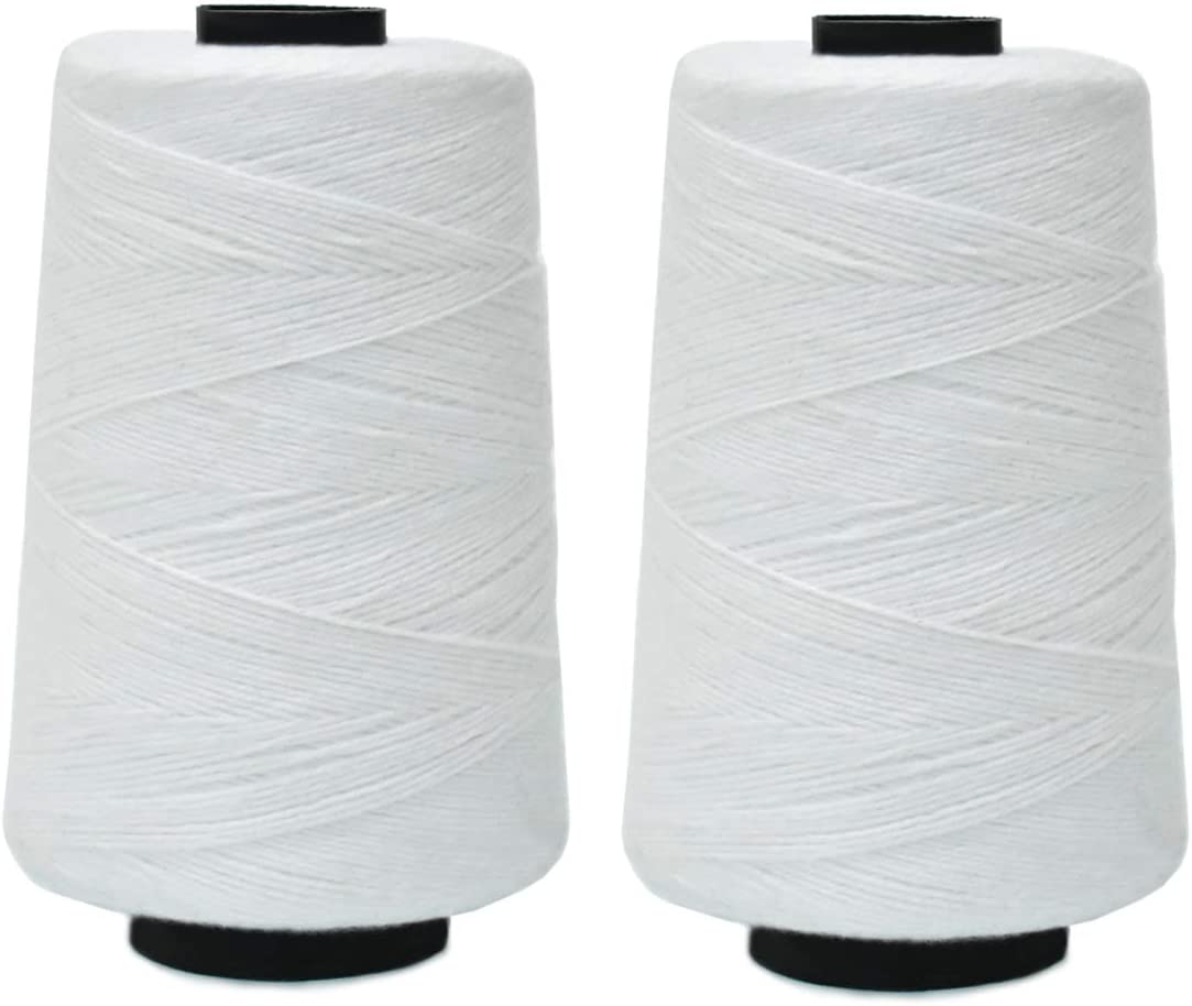 Embroiderymaterial Polyester Cotton Threads for Sewing Knitting Purpose (2 Rolls)