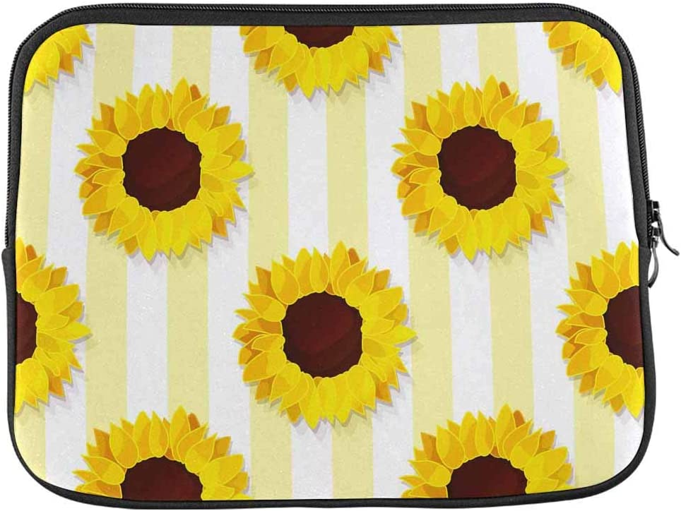 INTERESTPRINT Laptop Carrying Case Cover Sunflower Seed Head Flower Notebook Computer Sleeve Bag 17 Inch 17.3 Inch