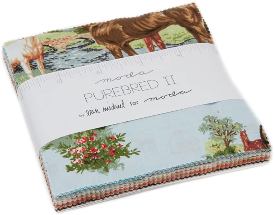 Purebred II Charm Pack by Erin Michael; 42-5 inch Precut Fabric Quilt Squares