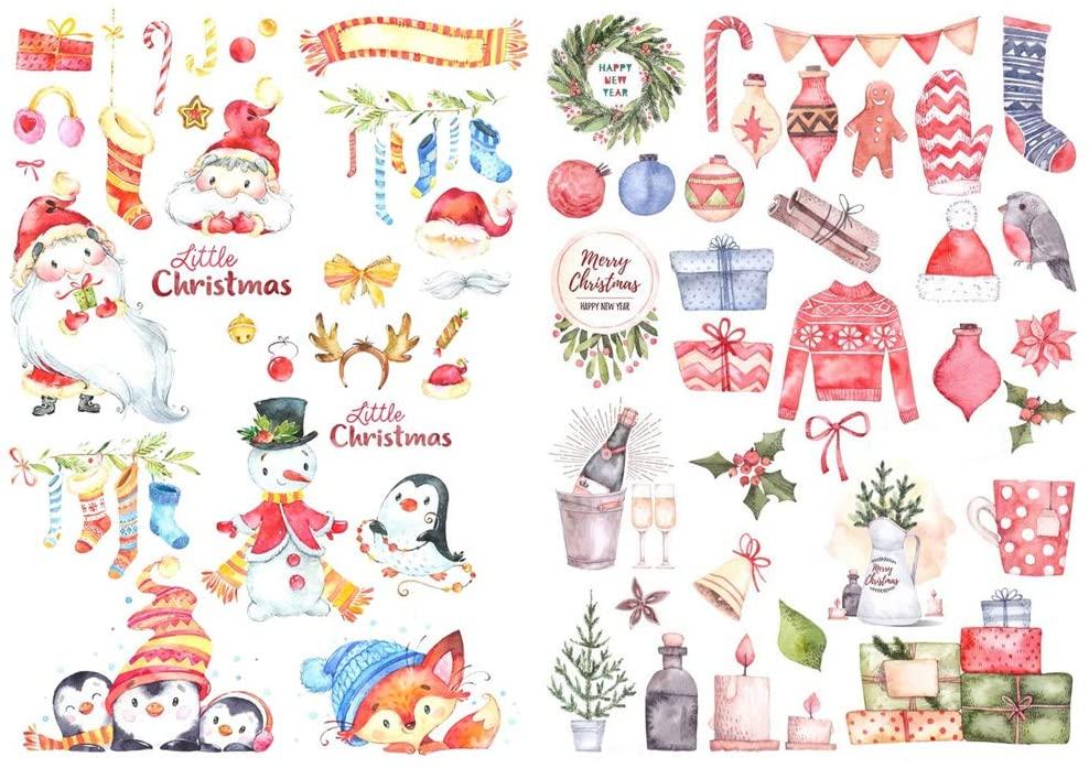 Seasonstorm Christmas Label Decoration School Stationery Scrapbooking Planner Sticker Cute Travel Toy Paper Stickers (PK182)