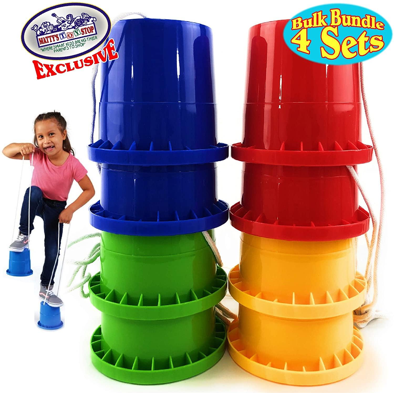 Matty's Toy Stop Bucket Stilts Plastic Balancing Stilts 4.75