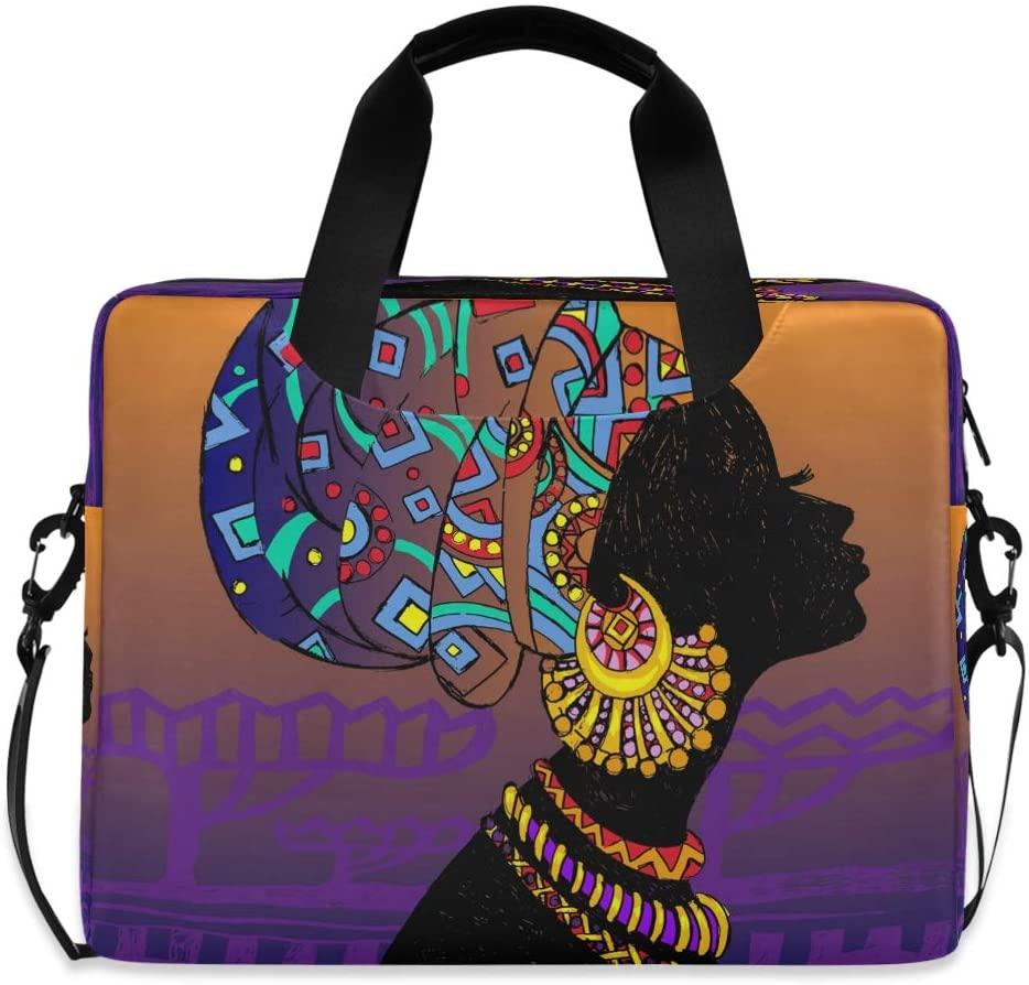 CCDMJ Laptop Case Vintage Egyptian African Woman Laptops Sleeve Shoulder Messenger Bag Briefcase Notebook Computer Tablet Bags with Strap Handle for Women Man Boys Girls 16 Inch