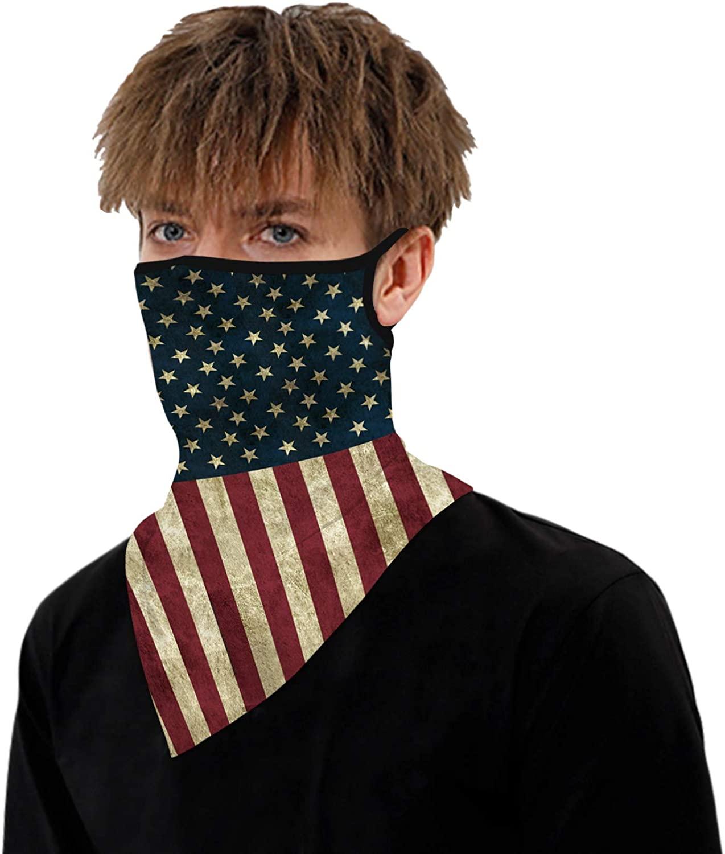 ARKIM Bandana Face Mask Scarf Face Rave Balaclava Neck Gaiters Dust Cloth Washable Wind Motorcycle Mask Men Women