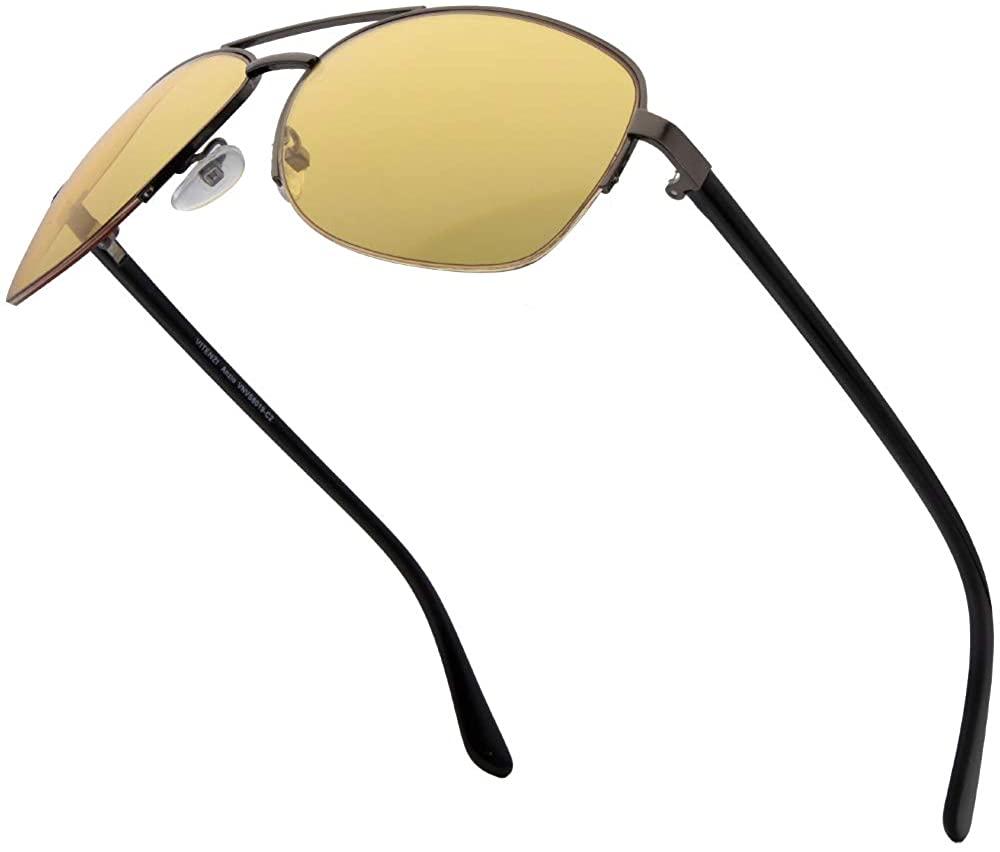 VITENZI Driving Sunglasses Night HD Vision Sun Glasses Aviator Anzio