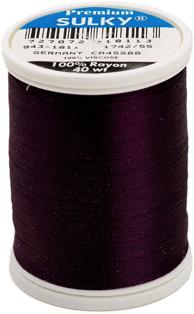 Sulky Of America 268d 40wt 2-Ply Rayon Thread, 850 yd, Wine Berry