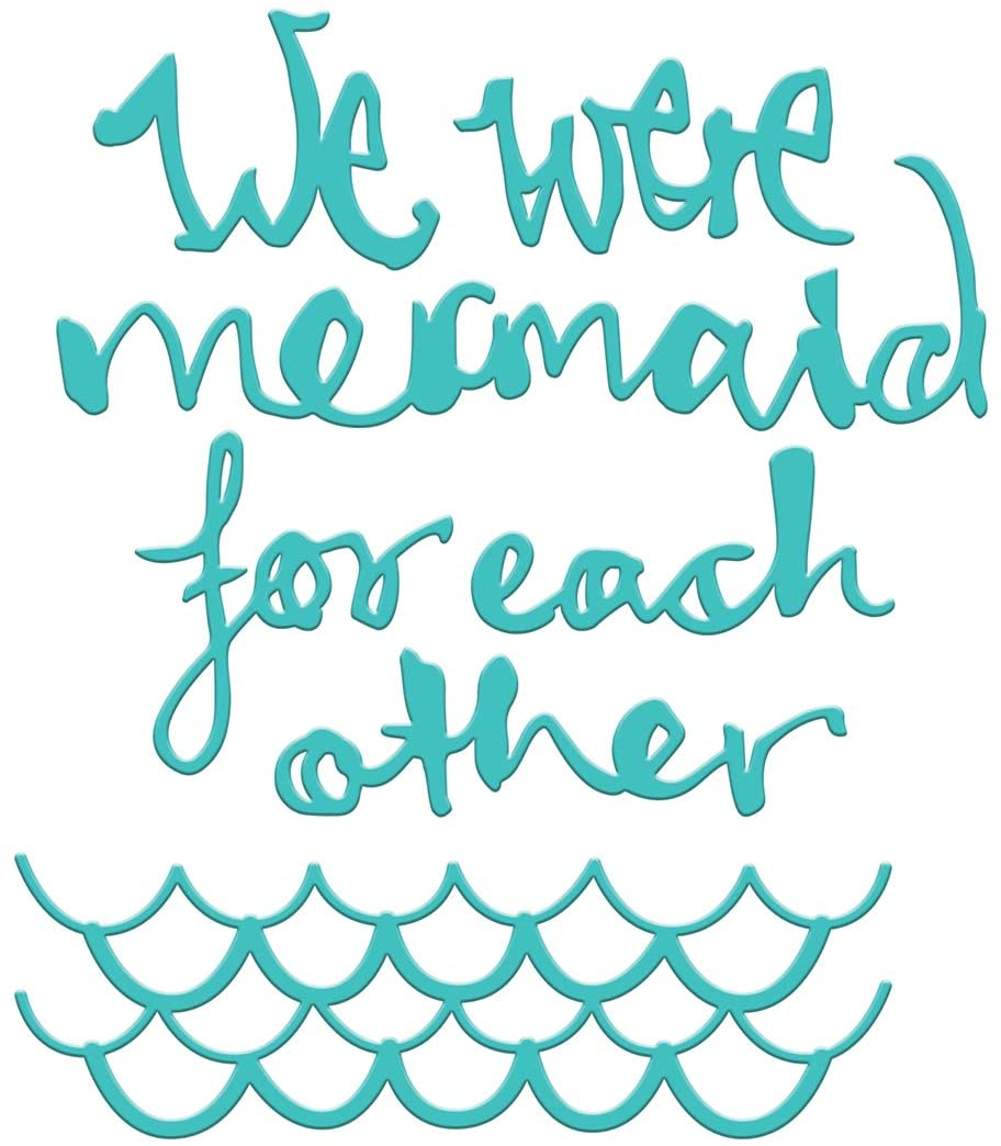 Spellbinders Jane Davenport Mermaid for Each Other Etched/Wafer Thin Dies, Teal