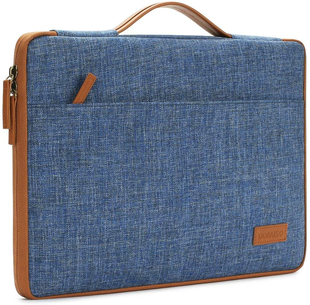 DOMISO 17 inch Laptop Sleeve Case Briefcase Water-Resistant Bag Portable Carrying Protector with Handle for 17.3
