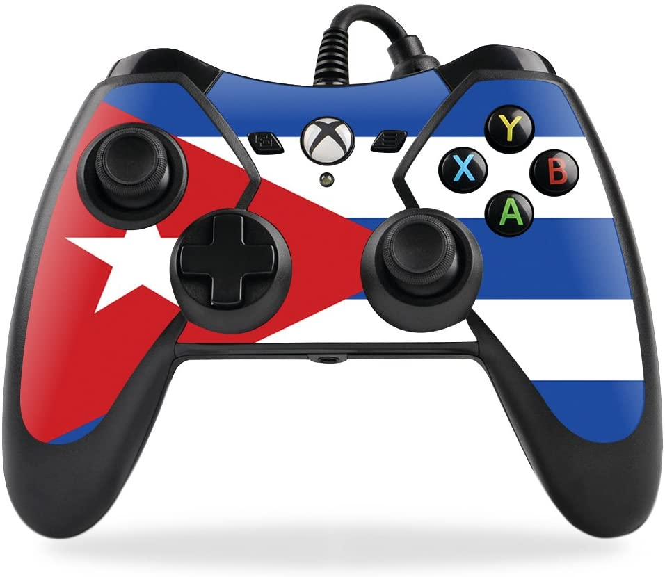 MightySkins Skin Compatible with PowerA Pro Ex Xbox One Controller case wrap Cover Sticker Skins Cuban Flag