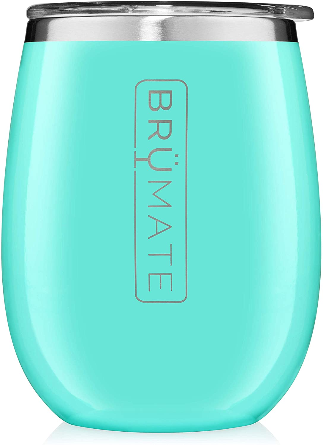 BrüMate Uncork'd XL 14oz Wine Glass Tumbler With Splash-proof Lid - Made With Vacuum Insulated Stainless Steel (Aqua)