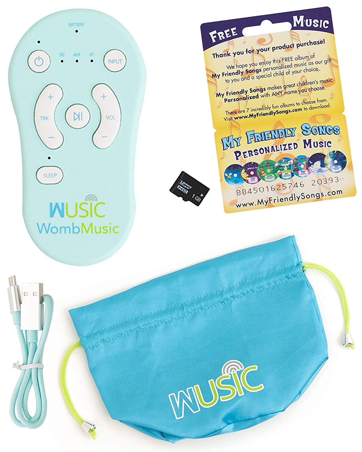 Womb Music Bluetooth Controller - [Controller Only - Does NOT Include Belly Speaker] - Compatible with Other Brands of Pregnancy Headphone Speakers to add Bluetooth Audio for Your Prenatal Speaker