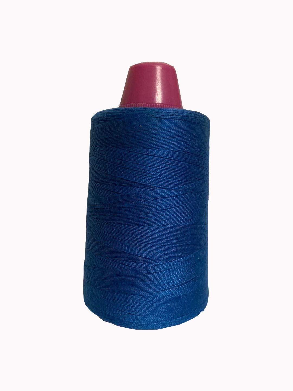 Multipurpose Sewing Thread Polyester Spool Multicolor Optional Cotton Thread 1312-Yard (Blue)