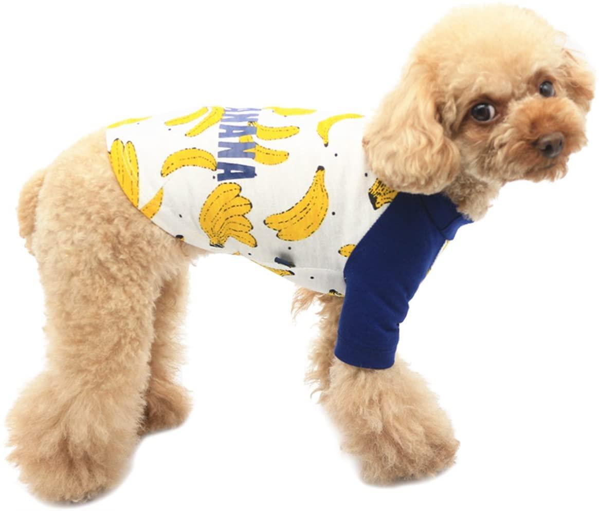 BONDOGLAND Dog Tracksuit Banana Pet Boy Puppy T-Shirt Warm Jumpers Clothes Outfit Apparel Coats Tops