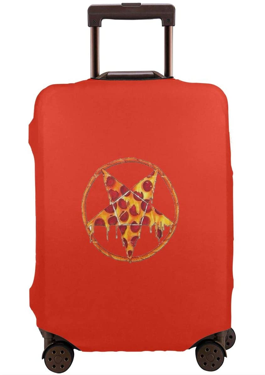 Travel Luggage Cover Star Pizza Anti-Scratch Baggage Suitcase Protector Cover Fits 18-32 Inch