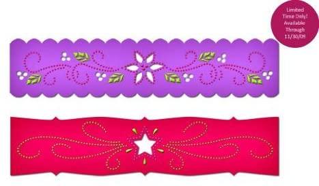 Spellbinders Borderabilities Petite Dies 5-1/2-Inch, Poinsettia & Stars