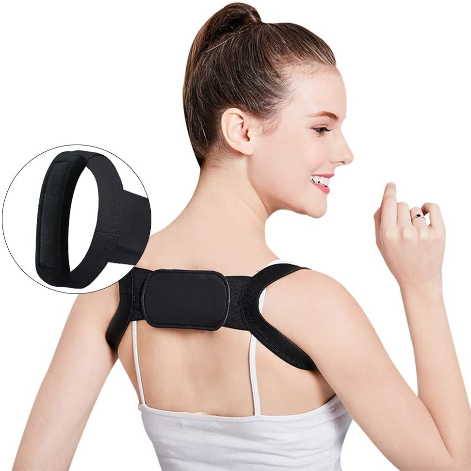 """2020 Upgrade No Pain Design Posture Corrector for Women & Men-Invisible Back Corrector Brace,Clavicle Support & Back Posture Corrector for Women Under Clothes,Fit 23""""-40"""" Chest Circumference-Black"""