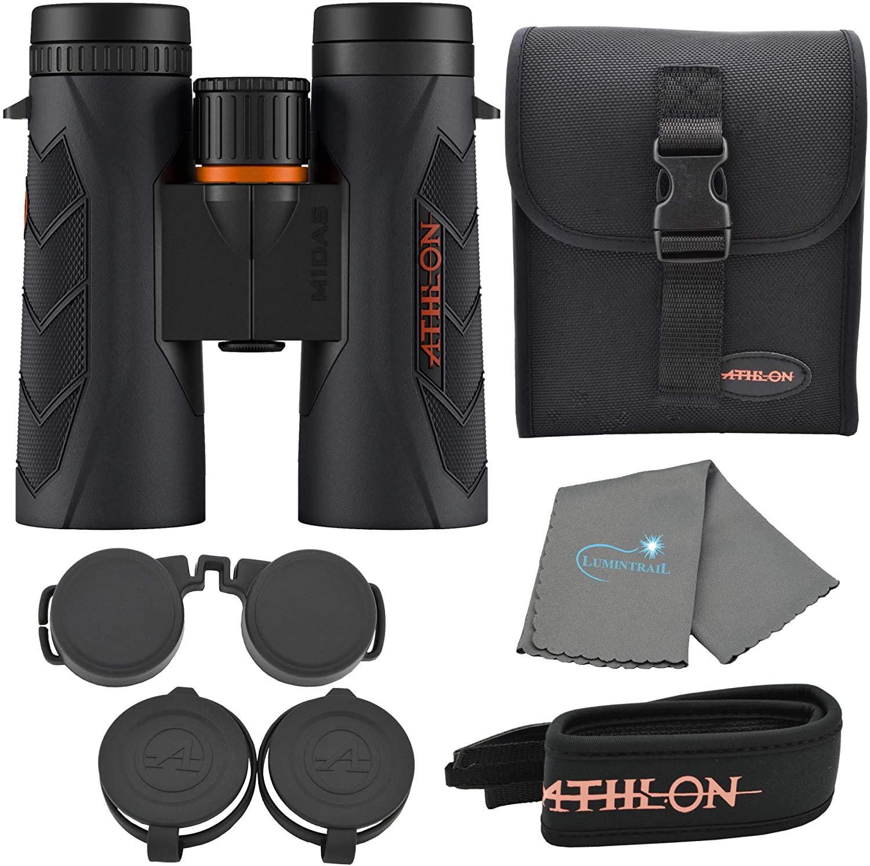 Athlon Optics Midas G2 UHD Binoculars Bundle with a Lumintrail Cleaning Cloth (8x42)