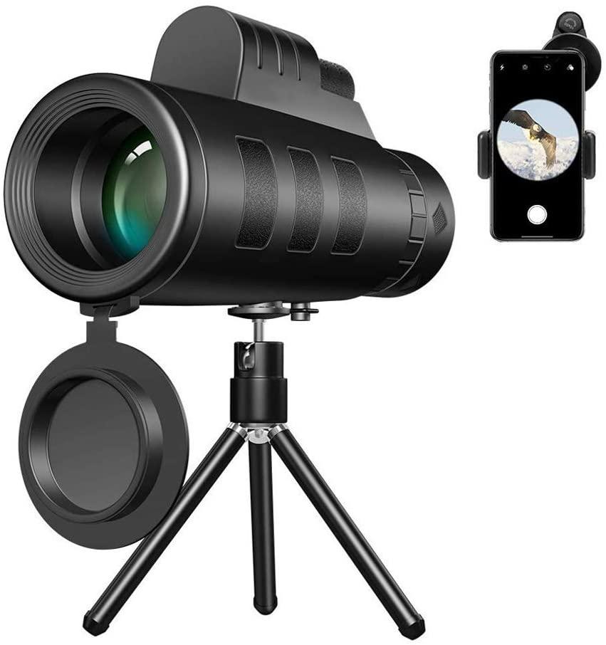 VASTAIR 50X60 Monocular Telescope Super Telephoto Zoom Monocular Telescope HD Monocular Eyepiece Telescope Night Vision Outdoor Camping Hunting Telescope