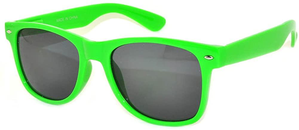 Classic Vintage Sunglasses Smoke Lens Green Frame Ladies OWL