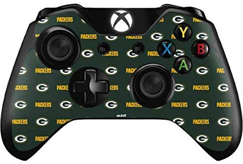 Skinit Decal Gaming Skin for Xbox One Controller - Officially Licensed NFL Green Bay Packers Blitz Series Design