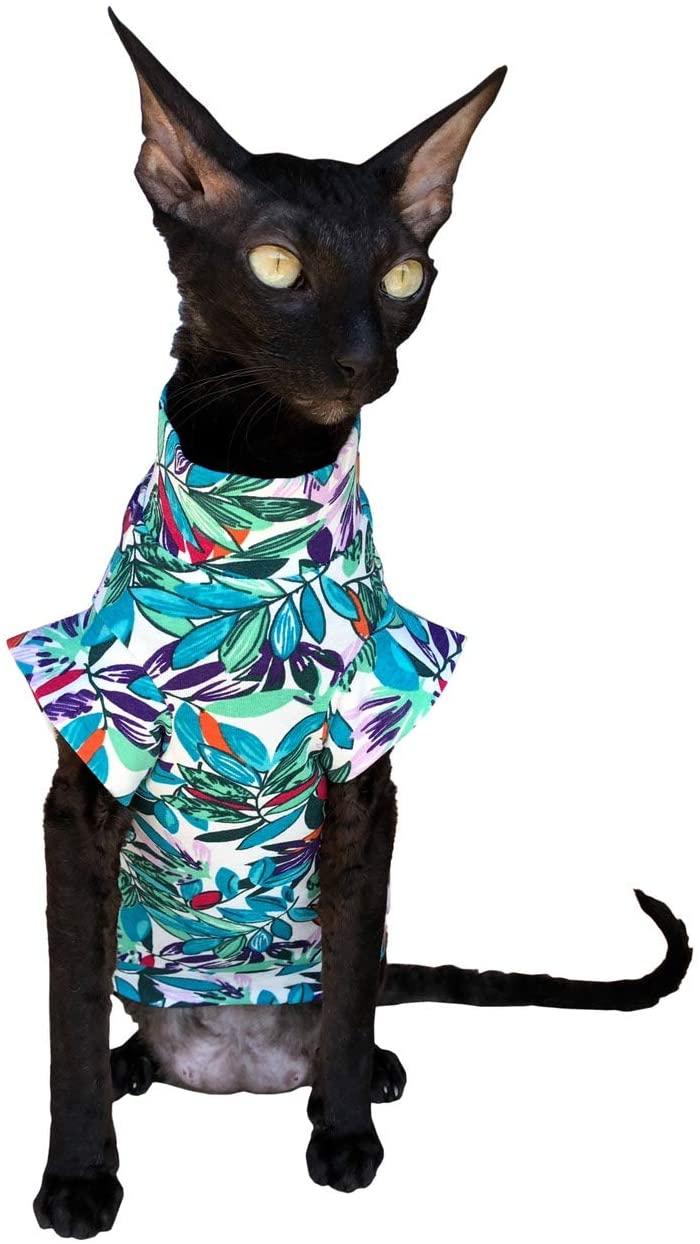 Kotomoda cat wear T-Shirt Leaves