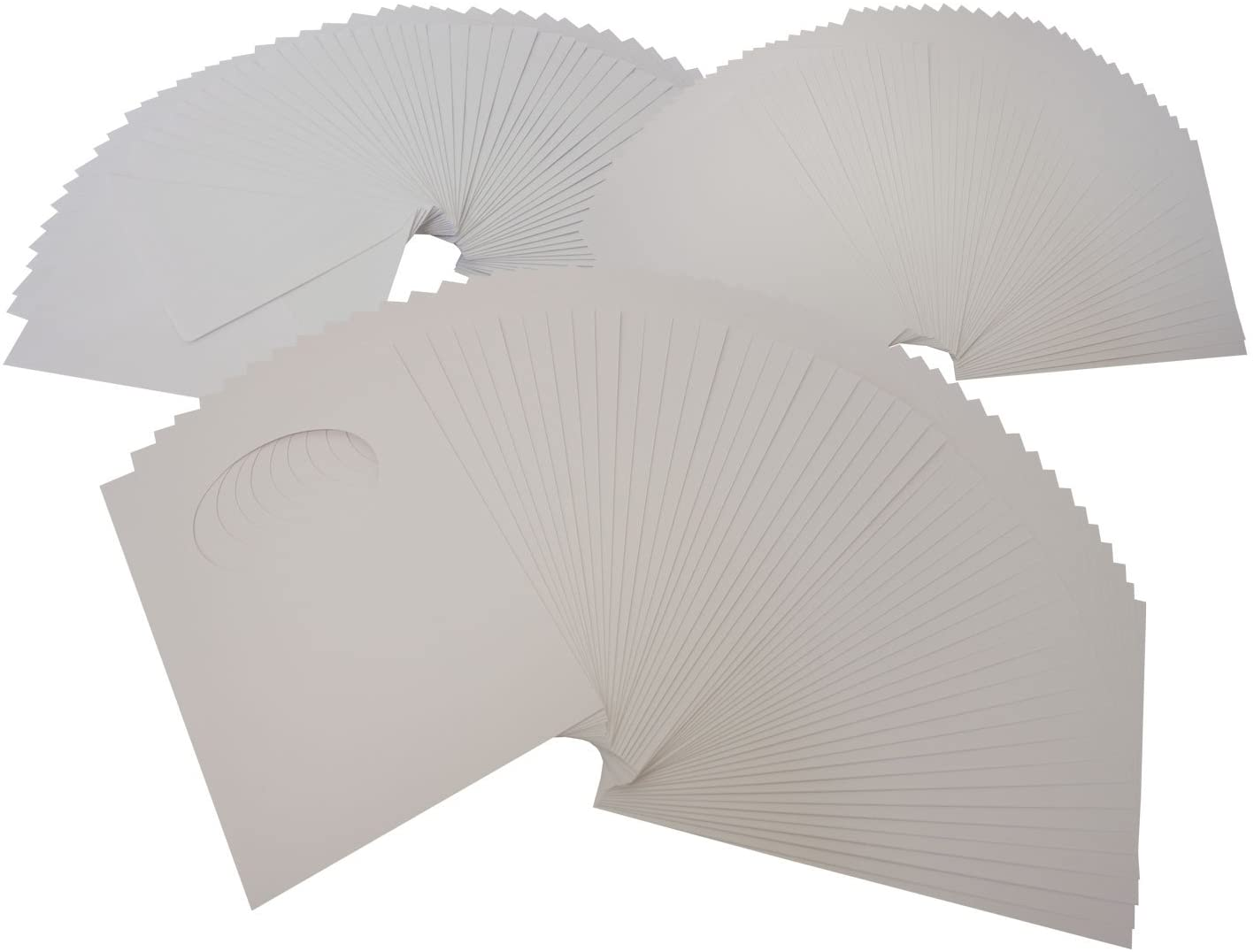 folia 8767Passepartout Cards Pack of 50White Oval Cut-Out