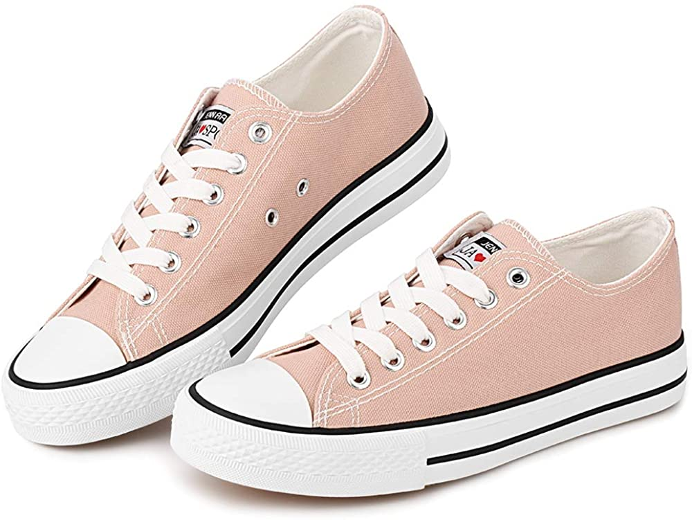 Womens Canvas Sneakers Low Cut Casual Shoes Fashion Flats Lace Up Sneaker Driving Comfortable Shoes
