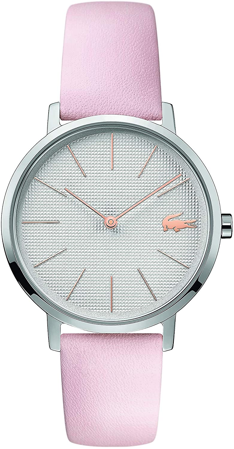 Lacoste Women's Stainless Steel Quartz Watch with Leather Strap, Pink, 16 (Model: 2001070)