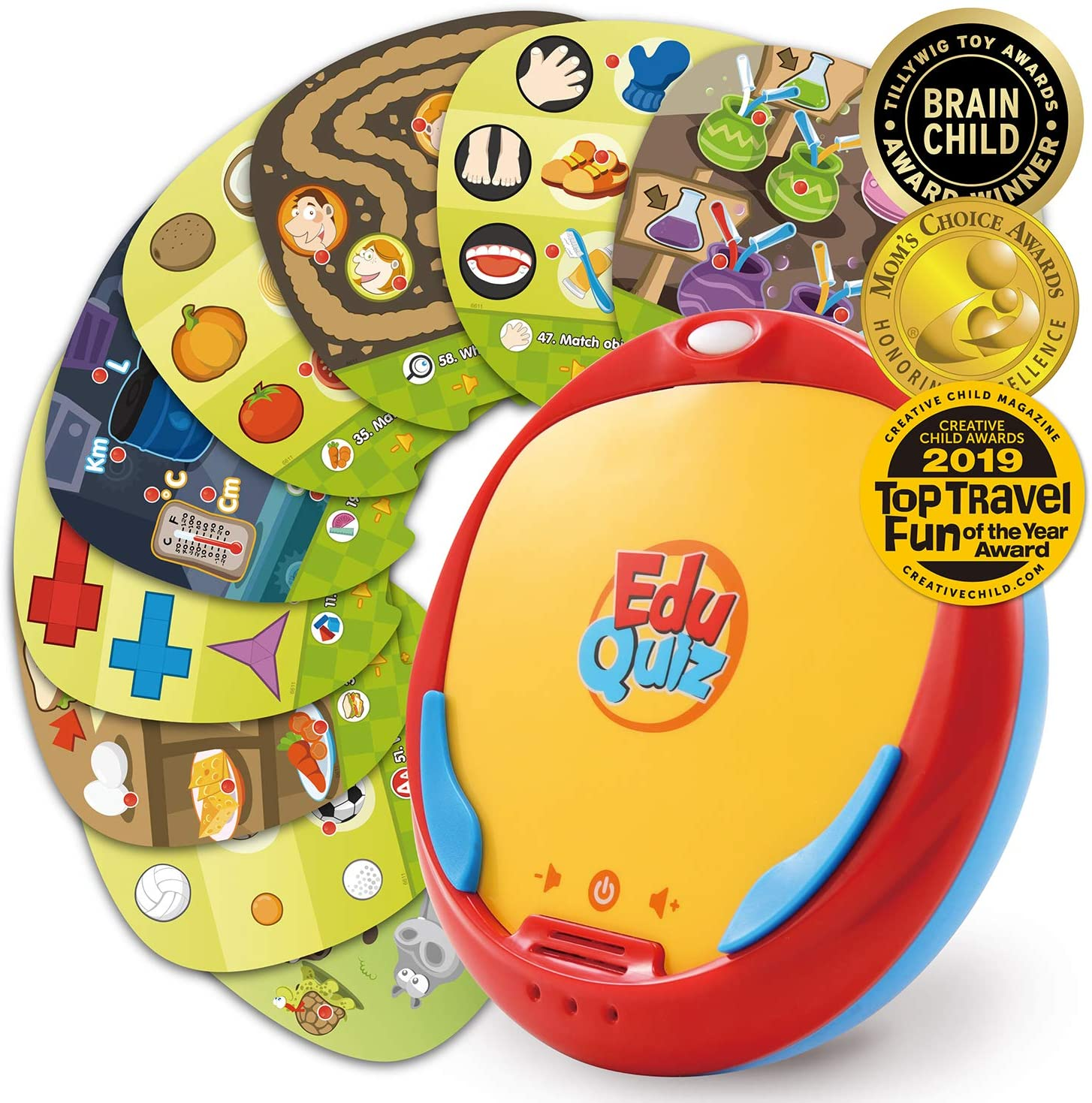 BEST LEARNING EduQuiz Basic Set I - Interactive Self Learning Educational Matching Toy for Kids Boys & Girls 3 4 5 6 Years Old