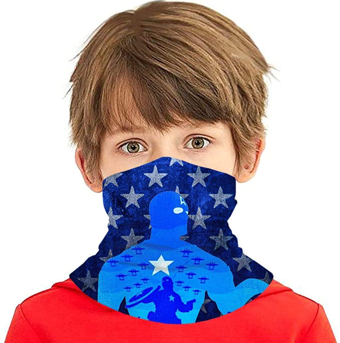 Kids Face Mask Bandanas Scarf Balaclava Full-Coverage Tube Neck Gaiter Headband Multifunction Face Mouth Cover