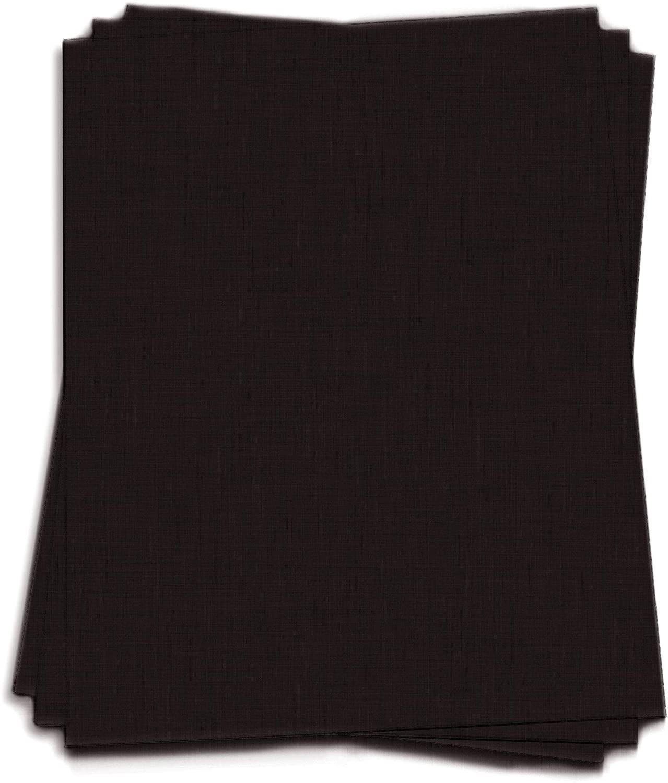 LCI Black Linen Cardstock - 8 1/2 x 11, 100lb Cover, 25 Pack