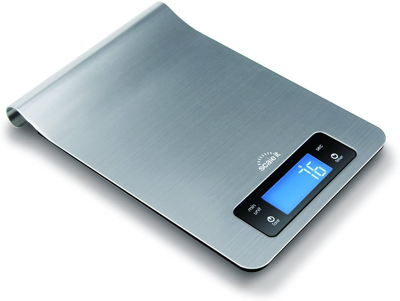 Scaleit Digital Multi-function Kitchen and Food Scale, Elegant Brushed Stainless Steel Design with Special Hang-able Design for Easy Storage