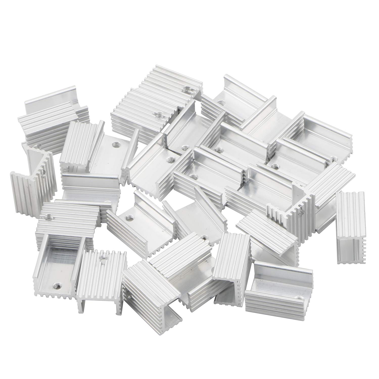 Senmod 20x15x10mm Cooling Module, Aluminum Heat Sink Heatsink Cooler Fin for TO220 7805 7812 7905, Pack of 50