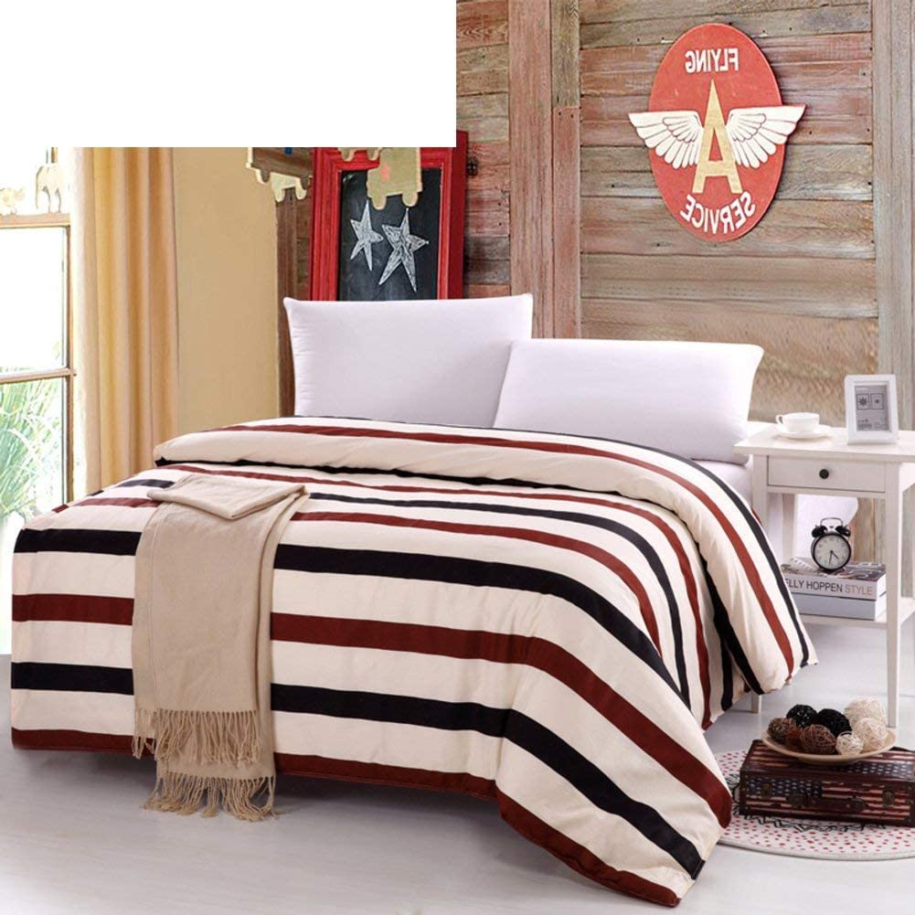 CJ&WIN Printed Duvet Cover Soft Comfortable Zippered Lightweight Breathable H 180 220cm