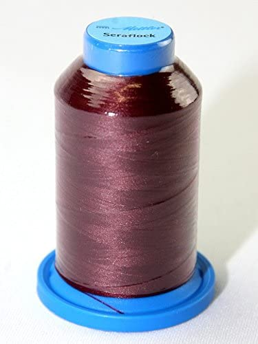 Mettler Seraflock Stretch Elasticated Sewing Thread 1000m 1000m 109 Wine - Each