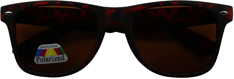 ShadyVEU Polarized Retro 80's Classic Round Black Matte Soft Sunglasses
